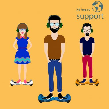 Support People on Hoverboards