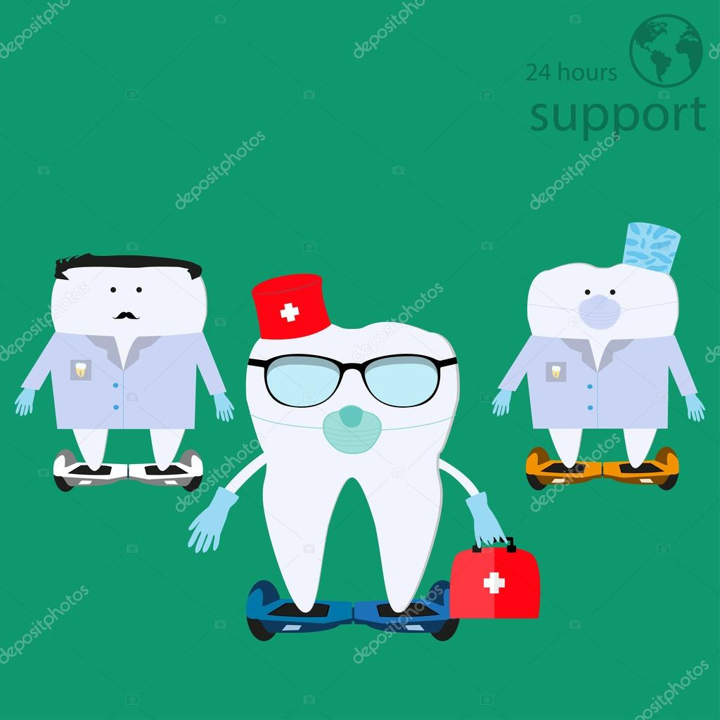 funny teeth icons