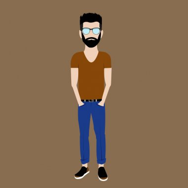 young guy hipster