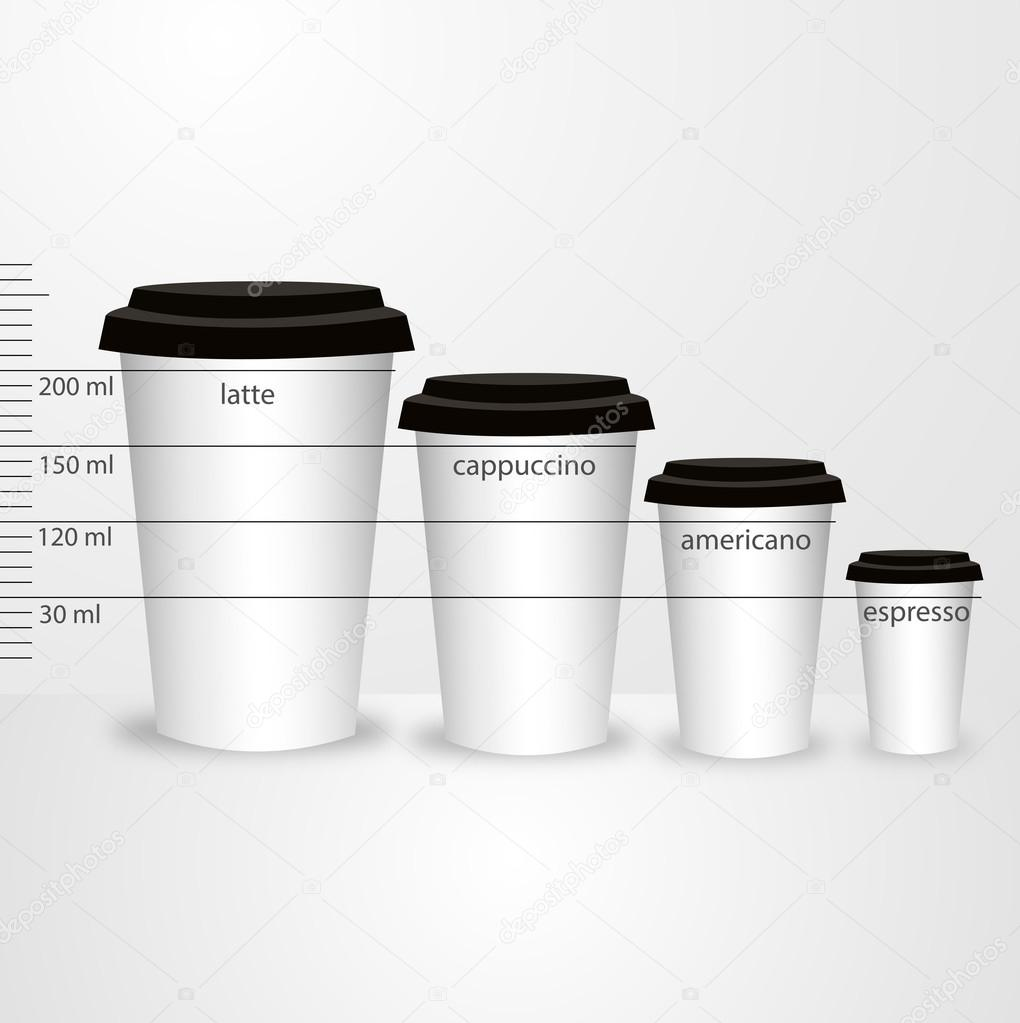 Plastic Takeaway Coffee Cups Stock Vector
