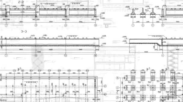 Építőipari rajzok végtelenített háttér