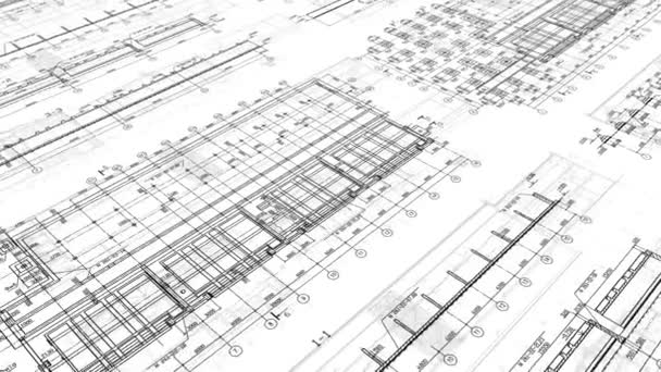 Construction Drawings Looped Background