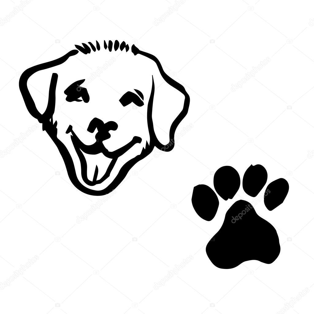 Dibujos Huellita De Perro Ilustración De Dibujo A Mano Alzada Del