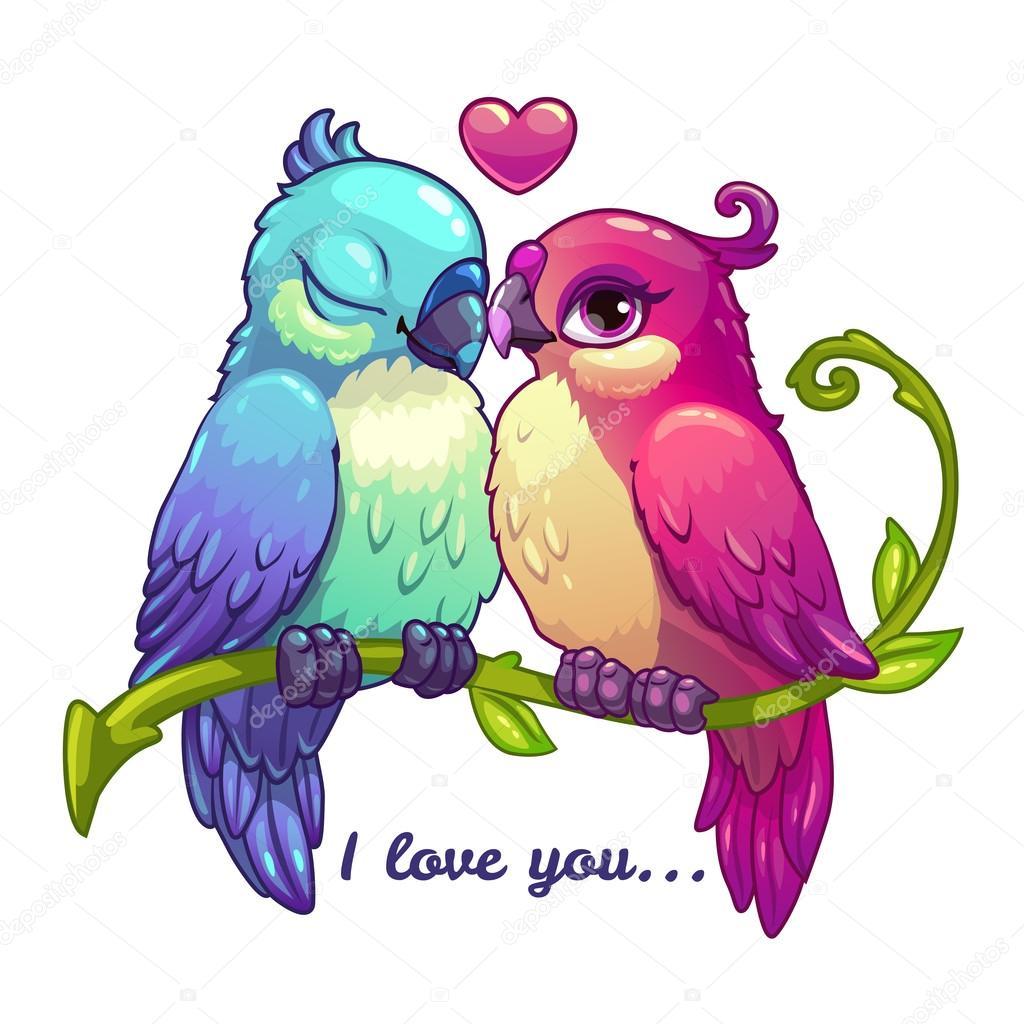 Couple Mignon Oiseaux Amoureux Image Vectorielle Lilu330 C 100992930