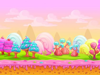Cartoon fantasy candy land location