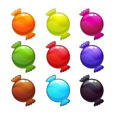 Cute round candies