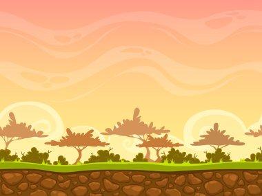 Cartoon savanna landscape