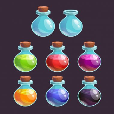 Bottles with poisons set