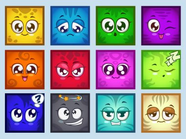 Avatars with different emotions