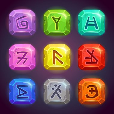 Runes on the rocks