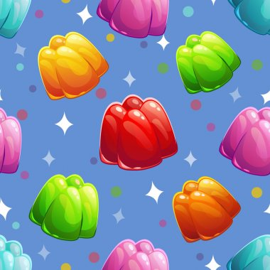 Pattern with clorful jelly