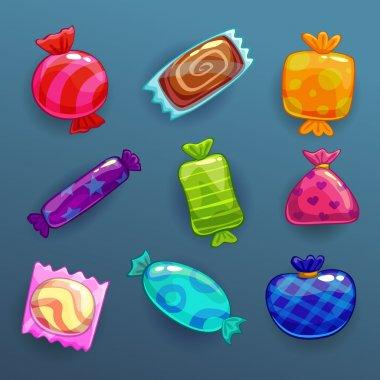 Bright cartoon candies