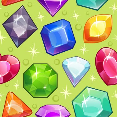 Pattern with gems