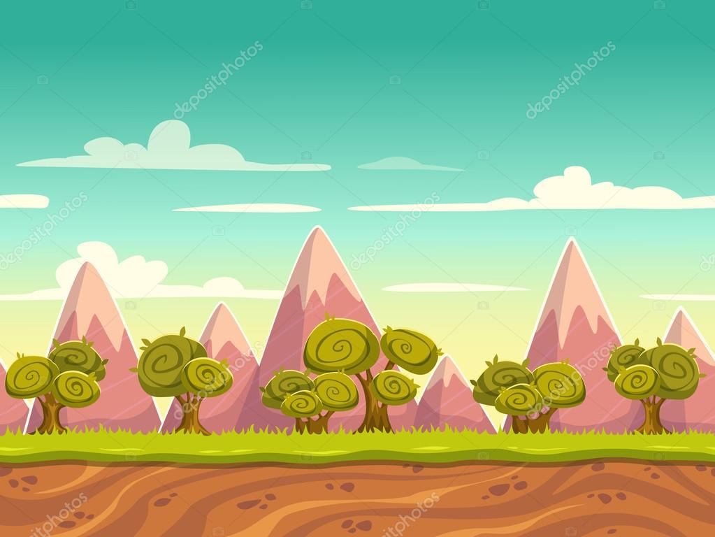Cartoon nature landscape