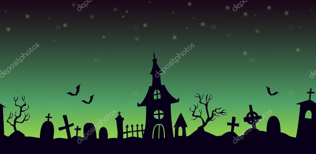 Dibujos Animados Cementerio Paisaje