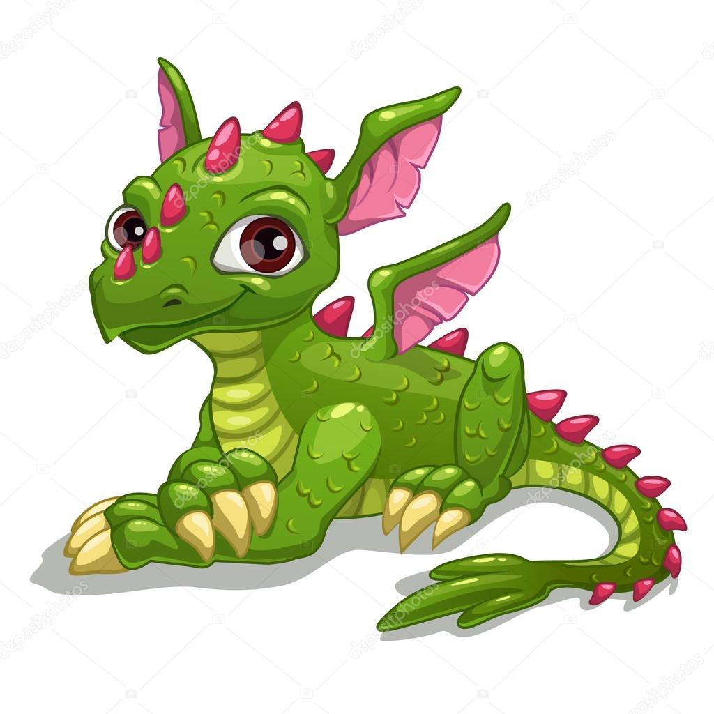 dragon vert de dessin anim image vectorielle lilu330 65096377. Black Bedroom Furniture Sets. Home Design Ideas