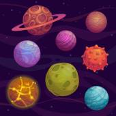 Photo Cartoon fantastic planets