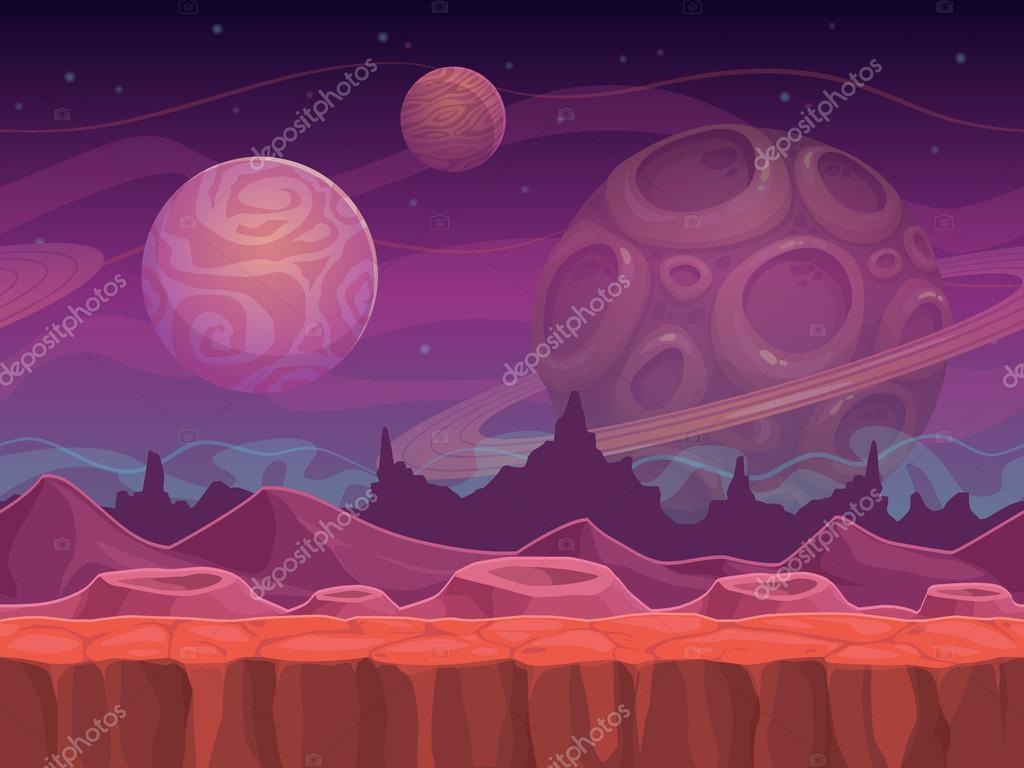 Alien fantastic landscape