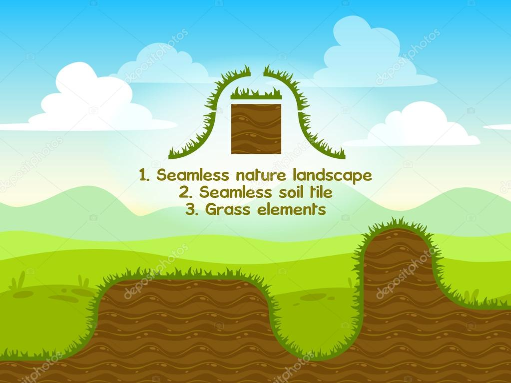 Seamless nature landscape