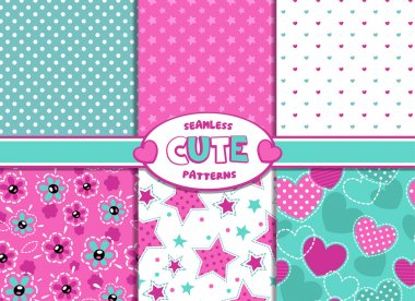 Cute girlish patterns