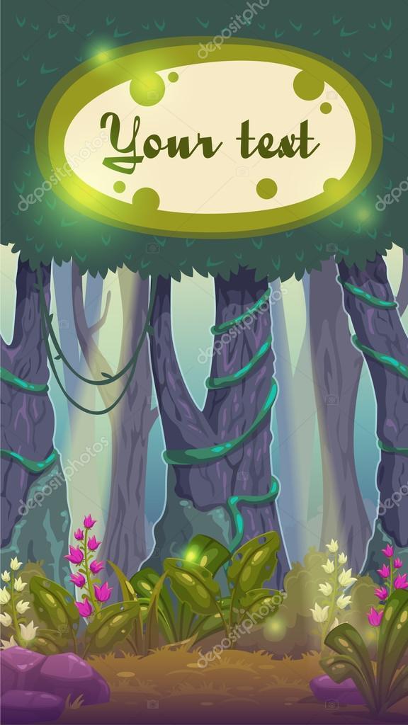 Fairy wood landscape
