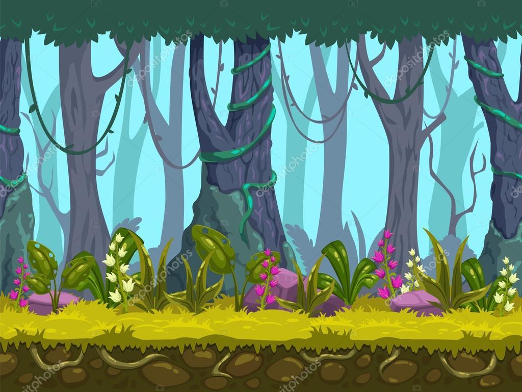 Seamless spring forest landscape
