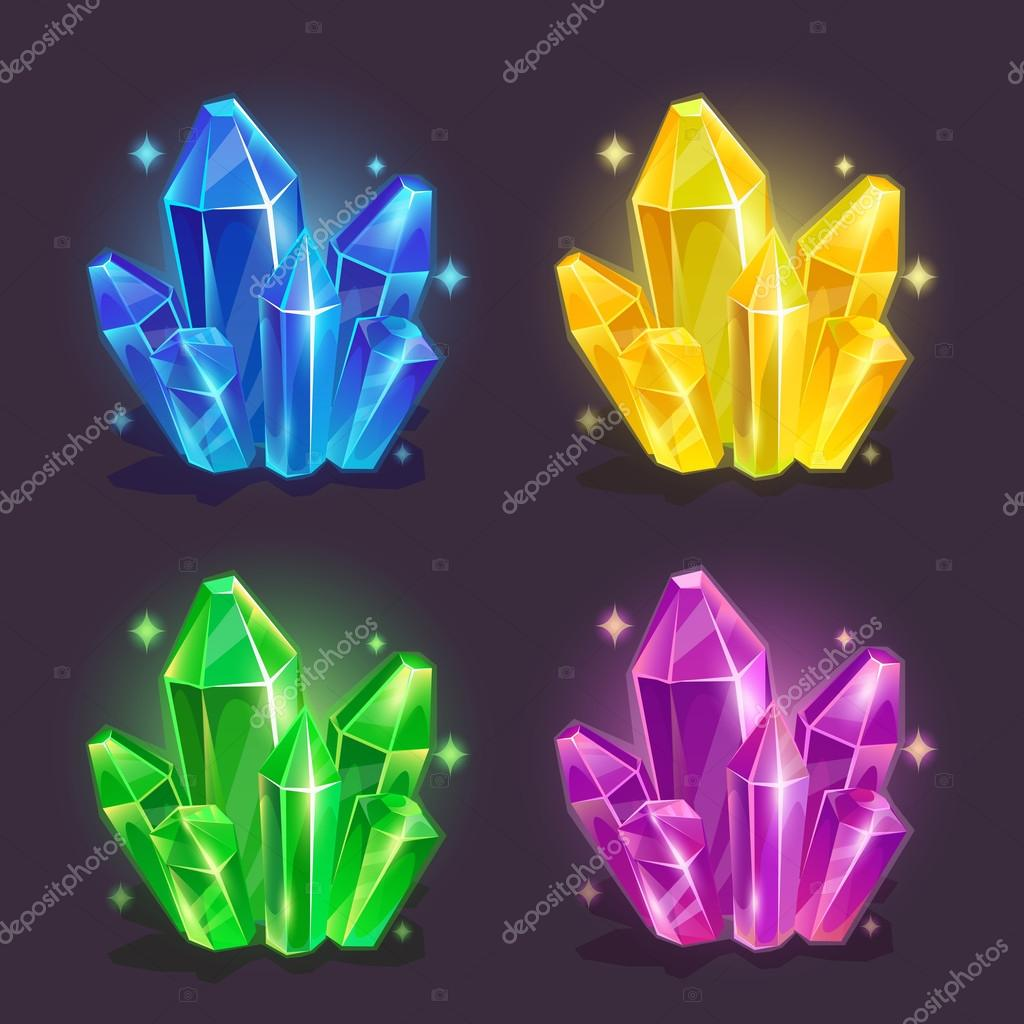Magic colorful crystals