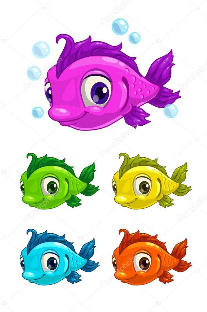 Dessin anim mignon poisson image vectorielle lilu330 73283173 - Poisson dessin couleur ...