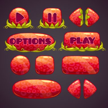 Cartoon red buttons