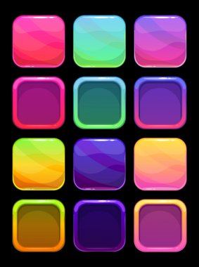 Funny bright colorful ui elements
