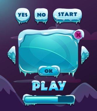Cartoon winter game user interface