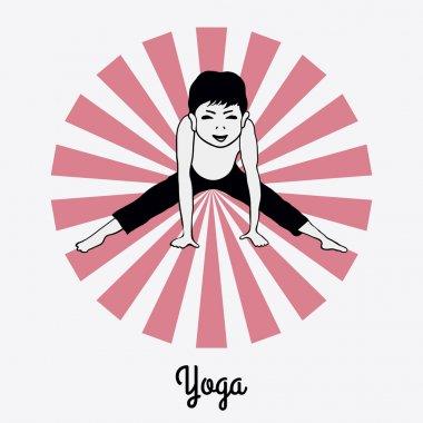 Boy in a yoga pose 5
