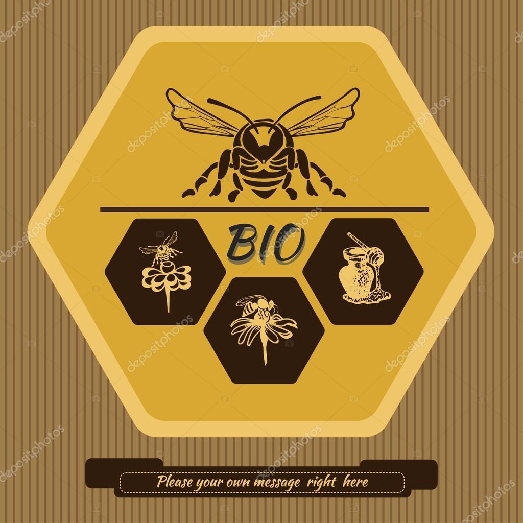 Etiqueta logotipo para publicidad y venta de miel 1 — Archivo ...