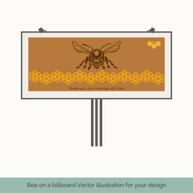 Bee on a billboard 1