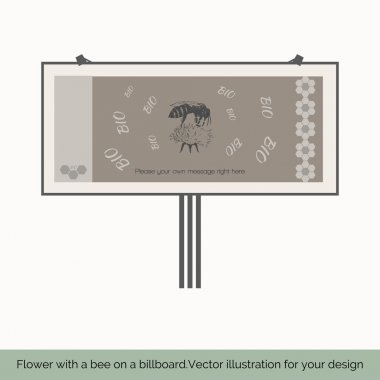Flower with bee on a billboard 3