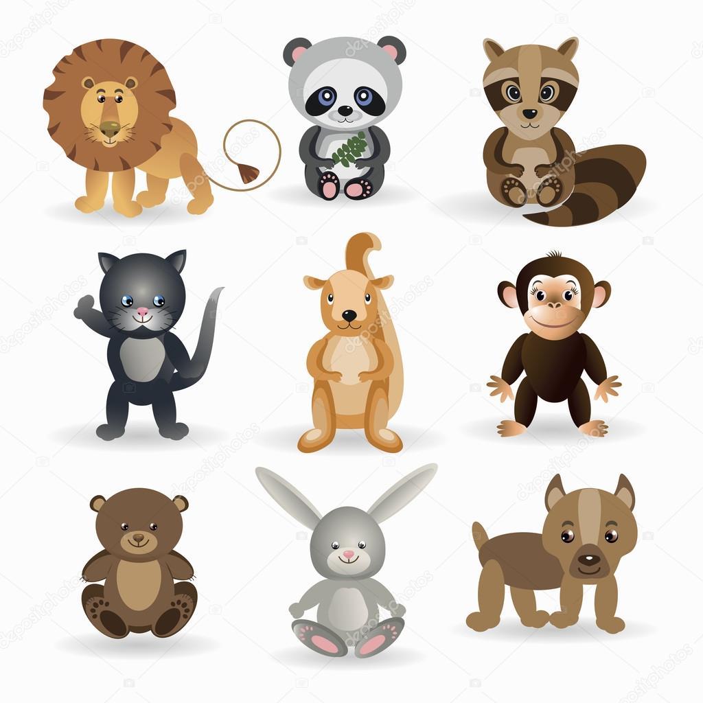 Insieme di animali selvatici — vettoriali stock oleta