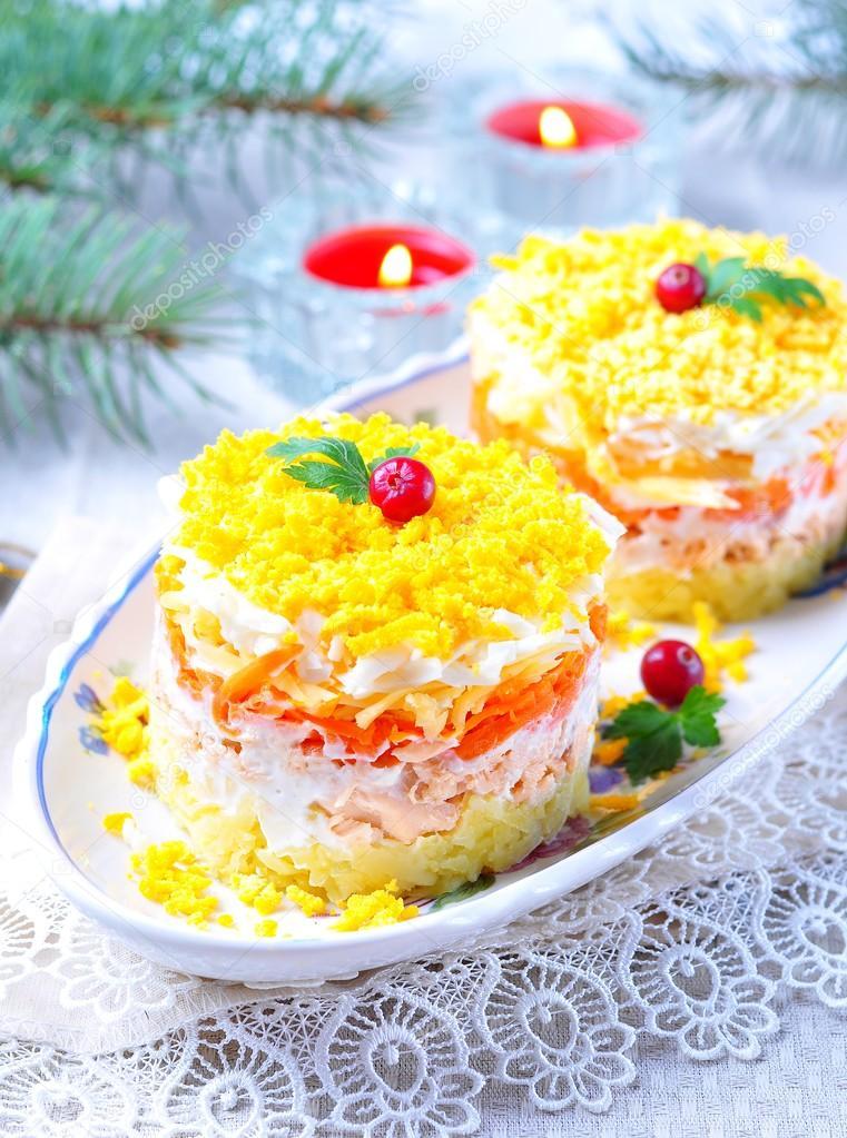 Салат мимоза сыр яйцо