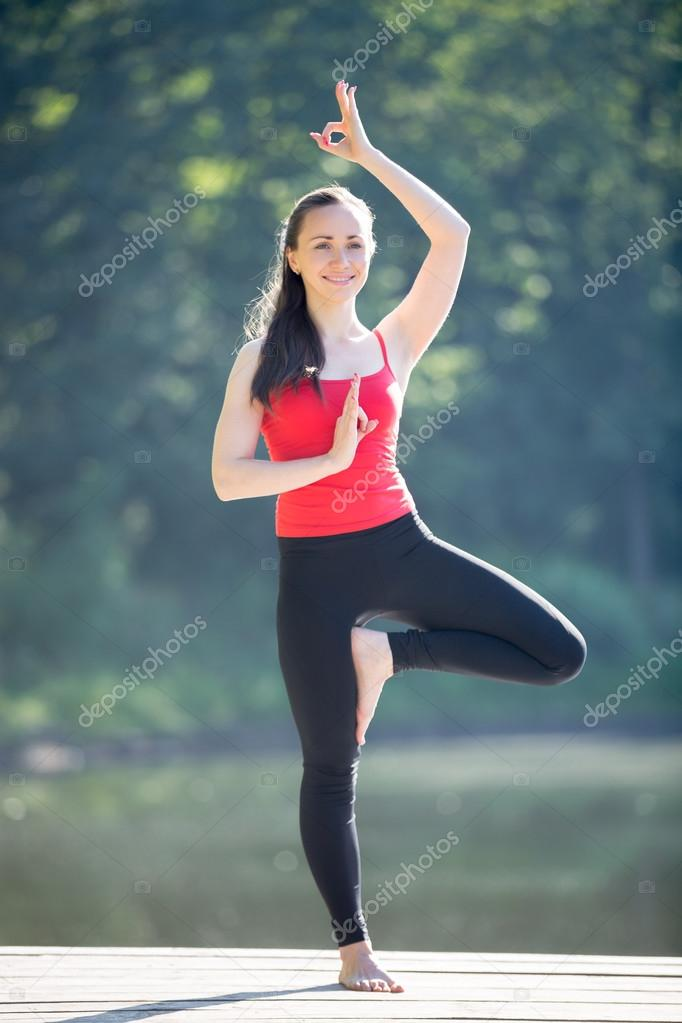 Teenage Girl In Tree Yoga Pose Stock Photo C Fizkes 108523332
