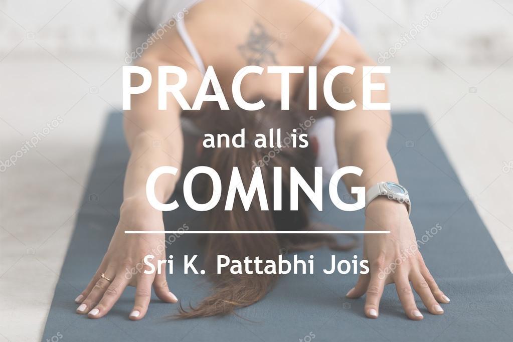 Práctica Y Todo Está Llegando Sri K Pattabhi Jois Fotos