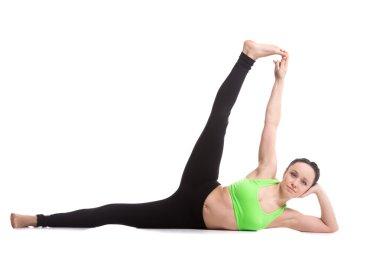 Side-Reclining Leg Lift yoga pose
