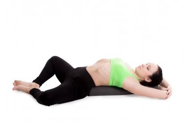 Reclining Bound Angle yoga Pose