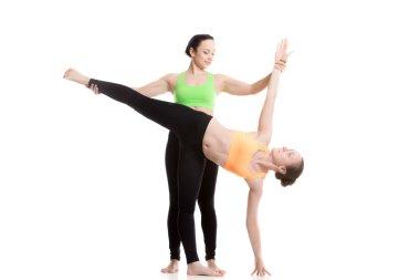Yoga with coach, Half Moon Pose