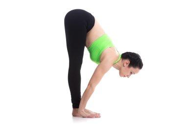 Uttanasana, intense forward bend yoga pose