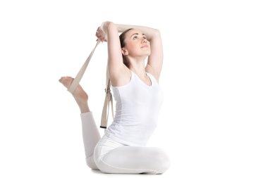 Yoga with props, Eka Pada Rajakapotasana 1