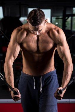 Young bodybuilder sports practice