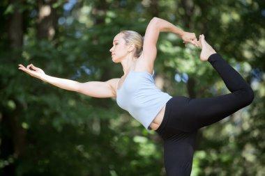 Dancing Shiva yoga pose
