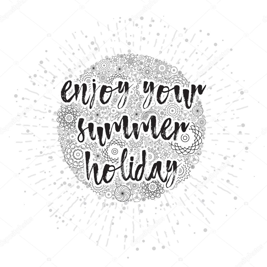 Enjoy Your Summer Holiday Stock Photo Goldenshrimp 106398978