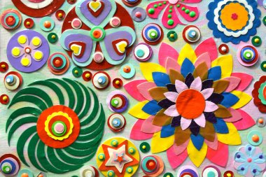 Abstract background of flowers.