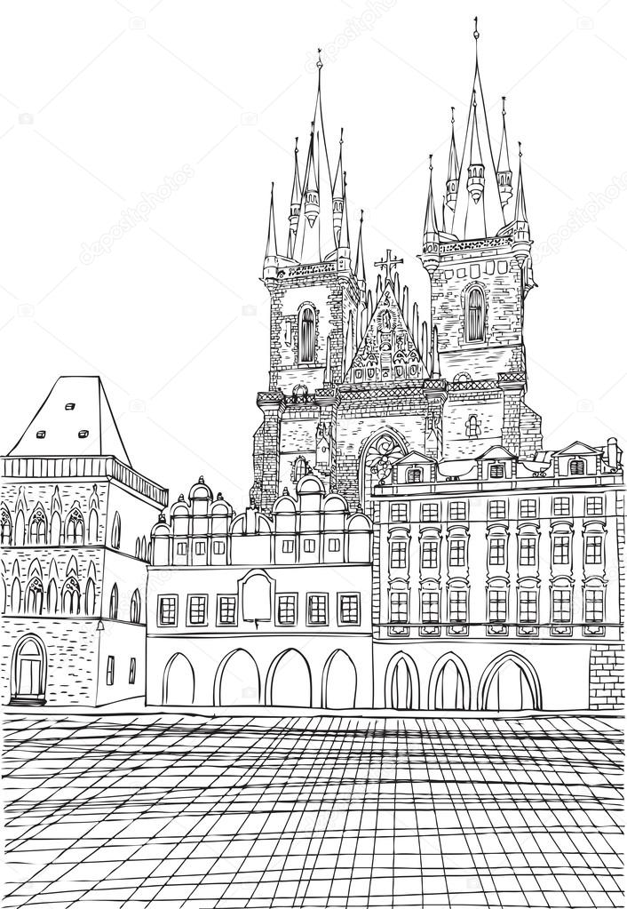 Prague Town Czech Republic Stock Photo C Goldenshrimp 111701996