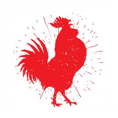 Rooster red label.